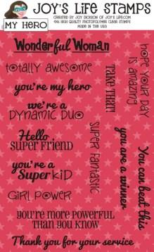 My Hero stamp set at www.joyslife.com