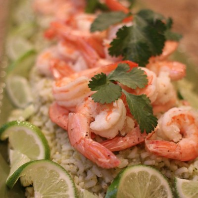 Shrimp with Green Chile Minute Rice