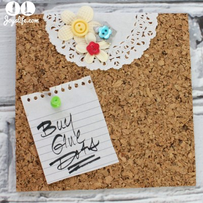 Decorated Cork Tile Note Board