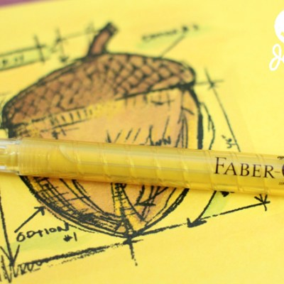 Cork Acorn Fall Decor – Faber Castell Design Memory Craft Team Post