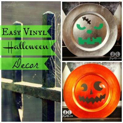 Cricut Artiste Jack o'Lantern & Frankenstein Vinyl Halloween Plates