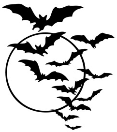 graphic regarding Bats Printable called Absolutely free Halloween Bat Swarm Printable Joys Lifestyle