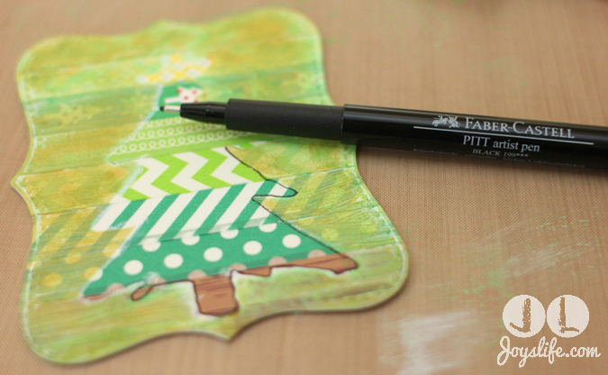 Christmas tree washi pitt pen
