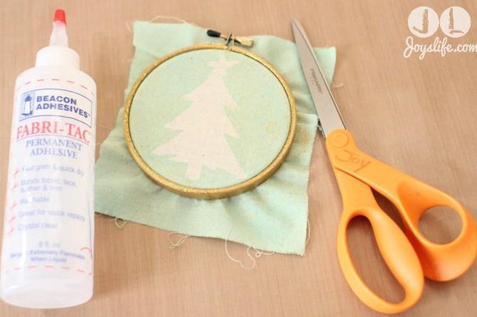 #Christmas Tree Tie Dye Hoop Art #SEI