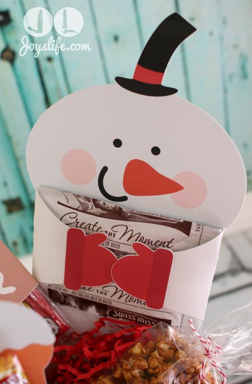 Snowman #HotChocolate Holder #EasyGifts Basket #shop
