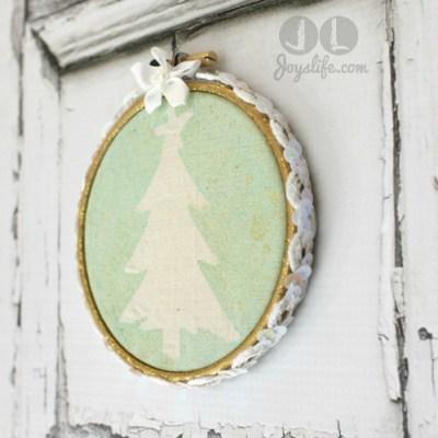 Christmas Tree Tie Dye Hoop Art