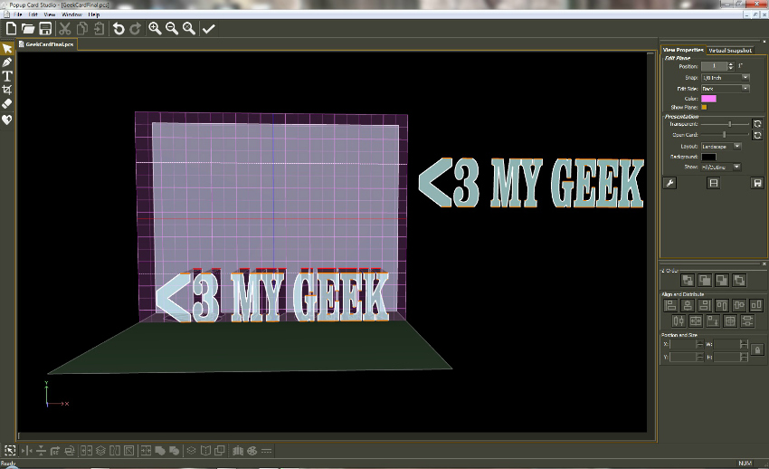 Heart My Geek PopUp Card Studio Software #PopUpCardStudio #diecut #card