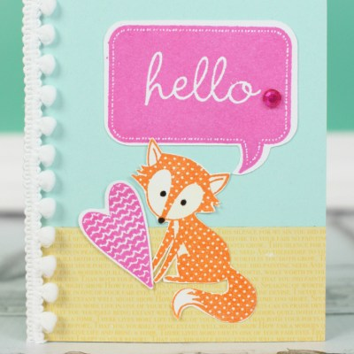 Hello Fox Card with Cricut CTMH Art Philosophy and Artiste #Cricut #CTMH #fox #card