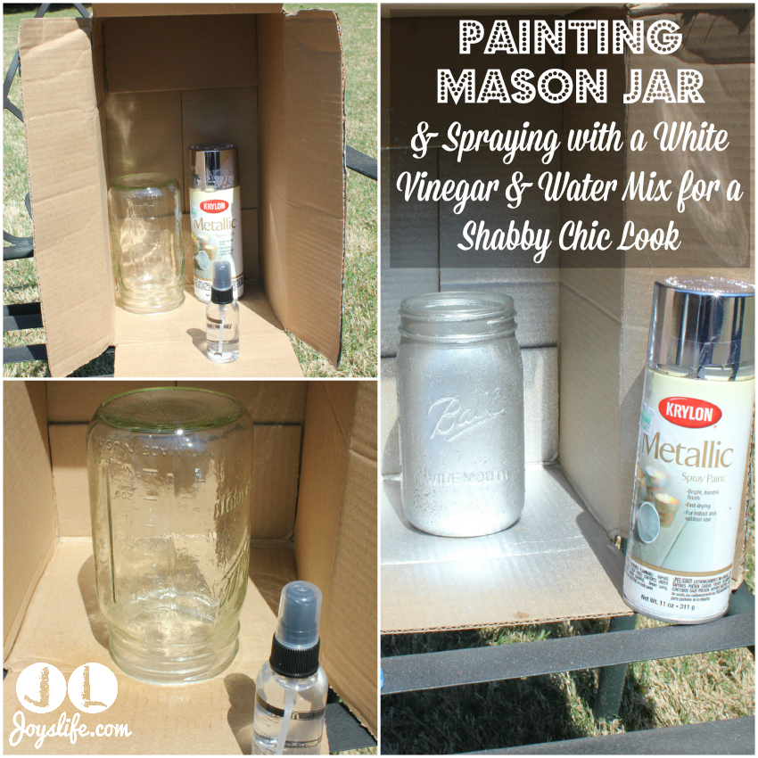 DIY Shabby Chic Silver Mason Jar Lamp with LED Power #LEDSavings #shop #cbias
