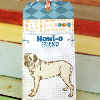 Howl-O Friend Puppy Gift Tag