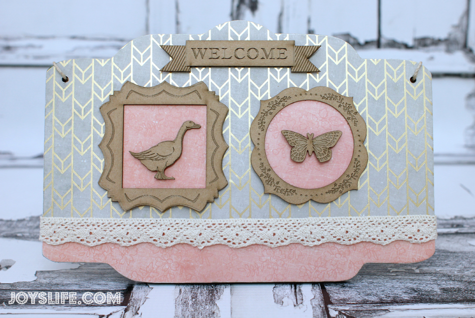 Cottage Style Welcome Sign with SEI #SEI #upcycle