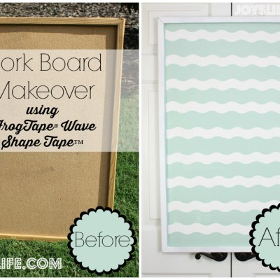 Cork Bulletin Board Makeover using FrogTape® Shape Tape™