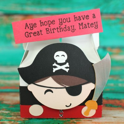 Cute 3D Pirate Box Perfect for Parties