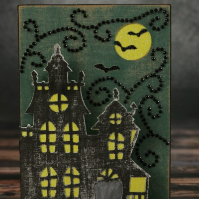 CTMH Cricut Artfully Sent Haunted House Card