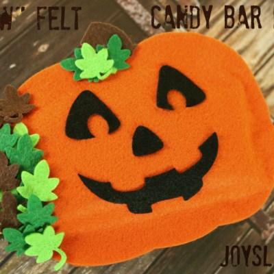 No Sew Felt Candy Bar Holder