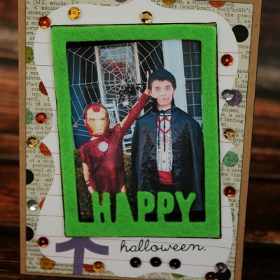 Happy Halloween Photo Card with Craftwell Cut 'N Boss & Teresa Collins