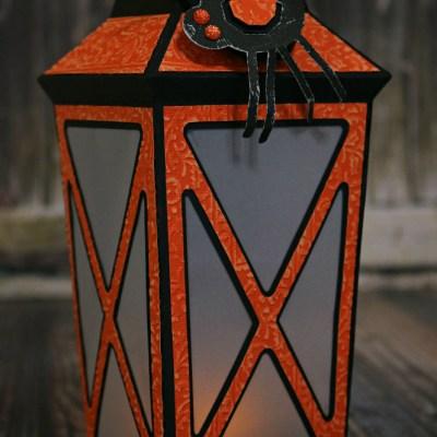 3D Cardstock Spooky Halloween Lantern