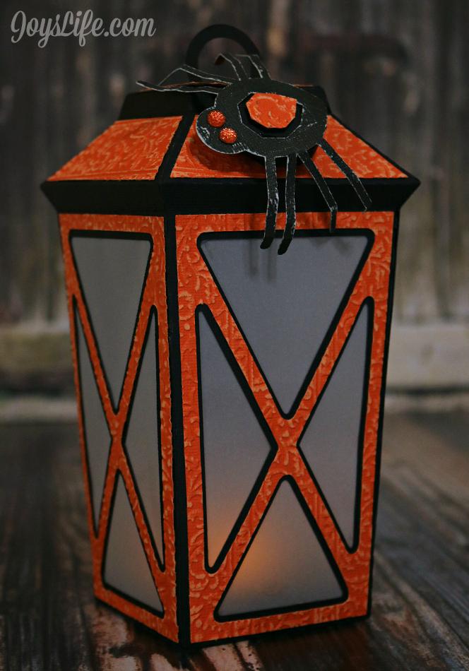 3D Cardstock Spooky Halloween Lantern #Coredinations #SVGCuts #Xyron #Craftwell #CutNBoss #SilhouetteCameo #Halloween #3D