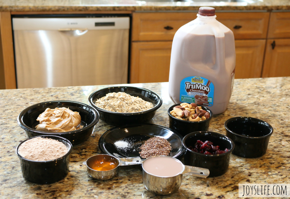 Make Healthy Snacks with this Protein Oat Bread Recipe & TruMoo #TruMoo #ad