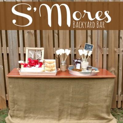 S'mores Party Backyard Bar