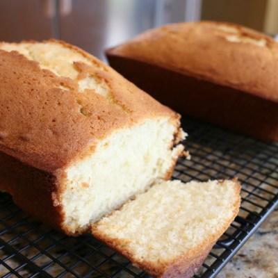 Vanilla Pound Cake & Keepin It Real