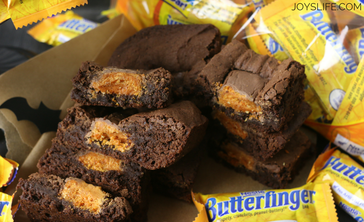 Delicious Butterfinger Brownies Recipe #ReinventSweet ad