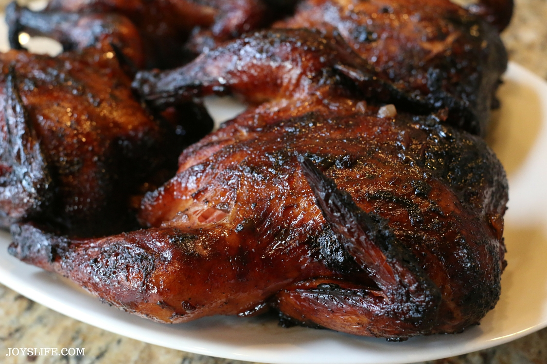 Ad: Red Currant Glazed Grilled Cornish Hens - 5 Simple Ingredients! #HolidayHens