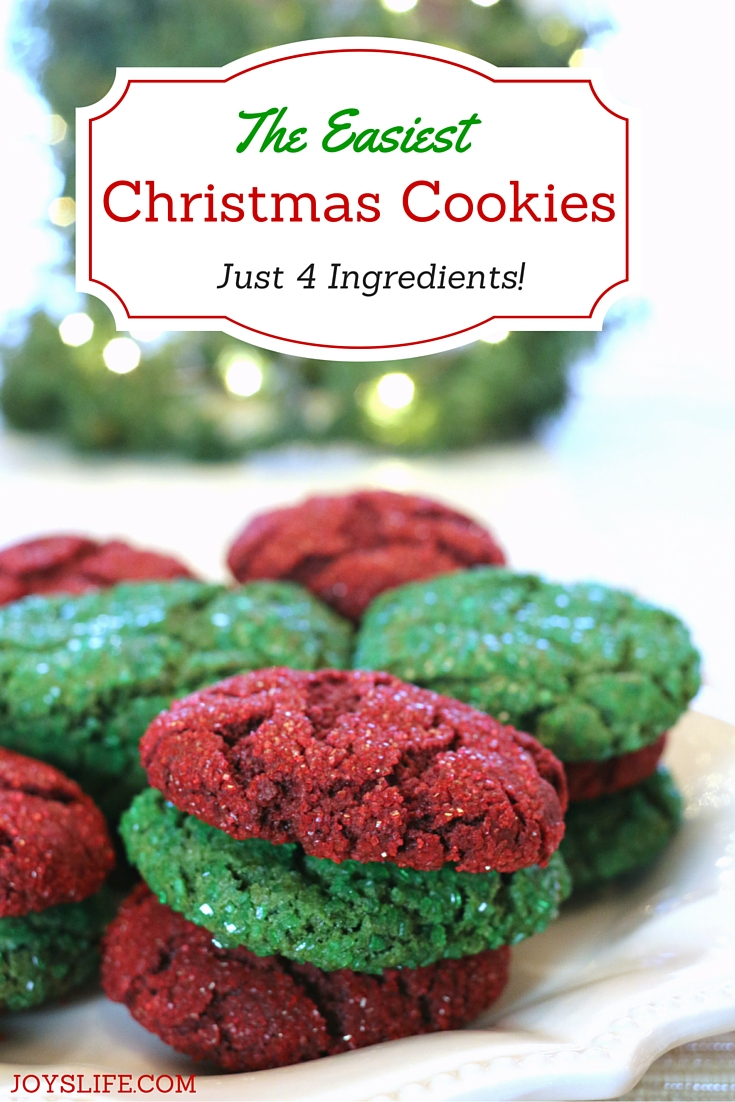 the easiest christmas cookies ever just 4 ingredients - Easy Christmas Cookie Recipes