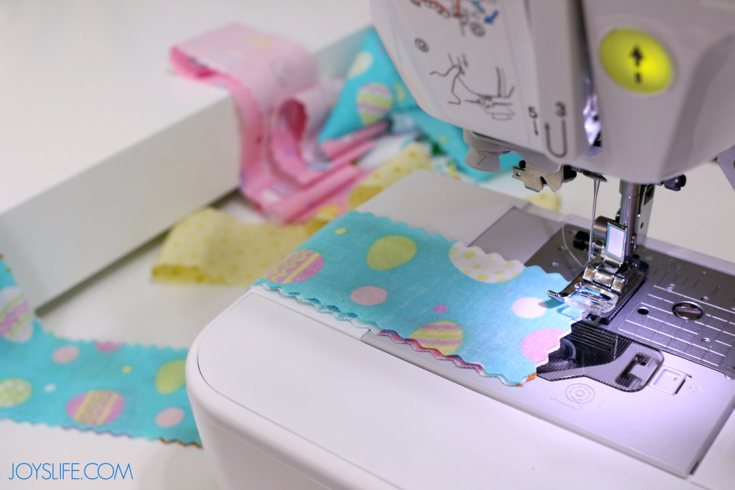 Sewing Easter Basket Material for the DIY Fabri and Rope Easter Basket