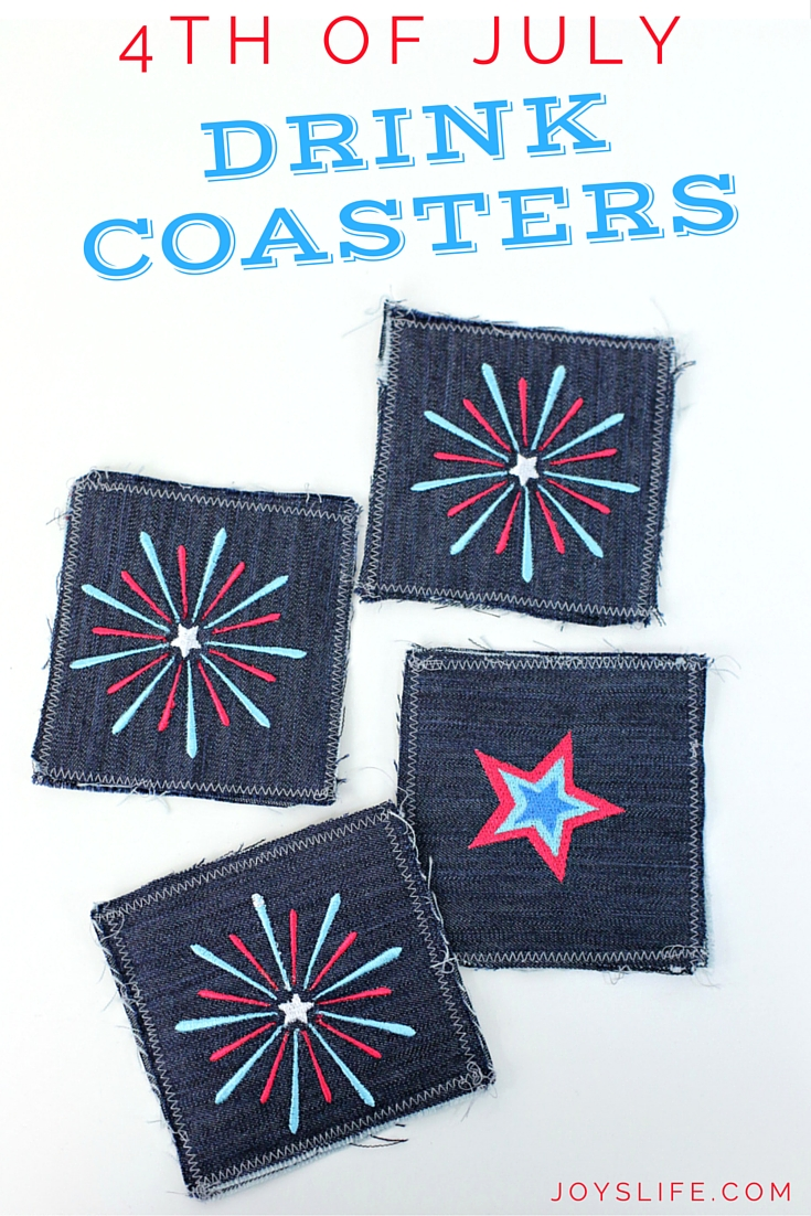 4th of July Drink Coasters