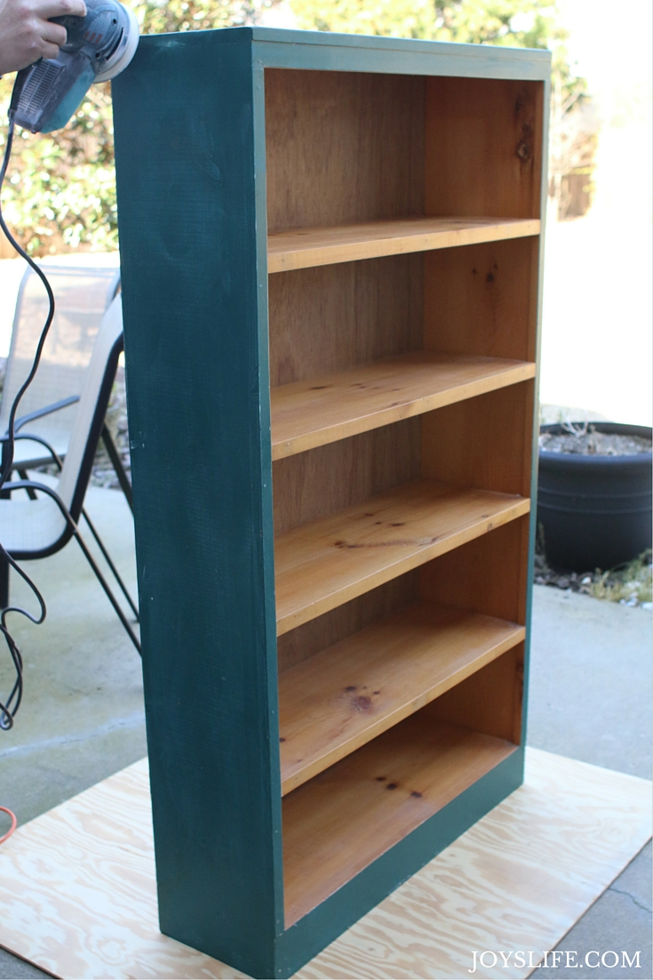 Sanding the Bookshelf