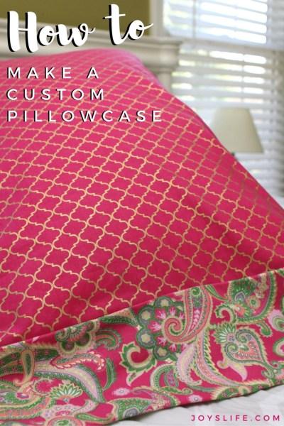 How to Make a Custom Pillowcase