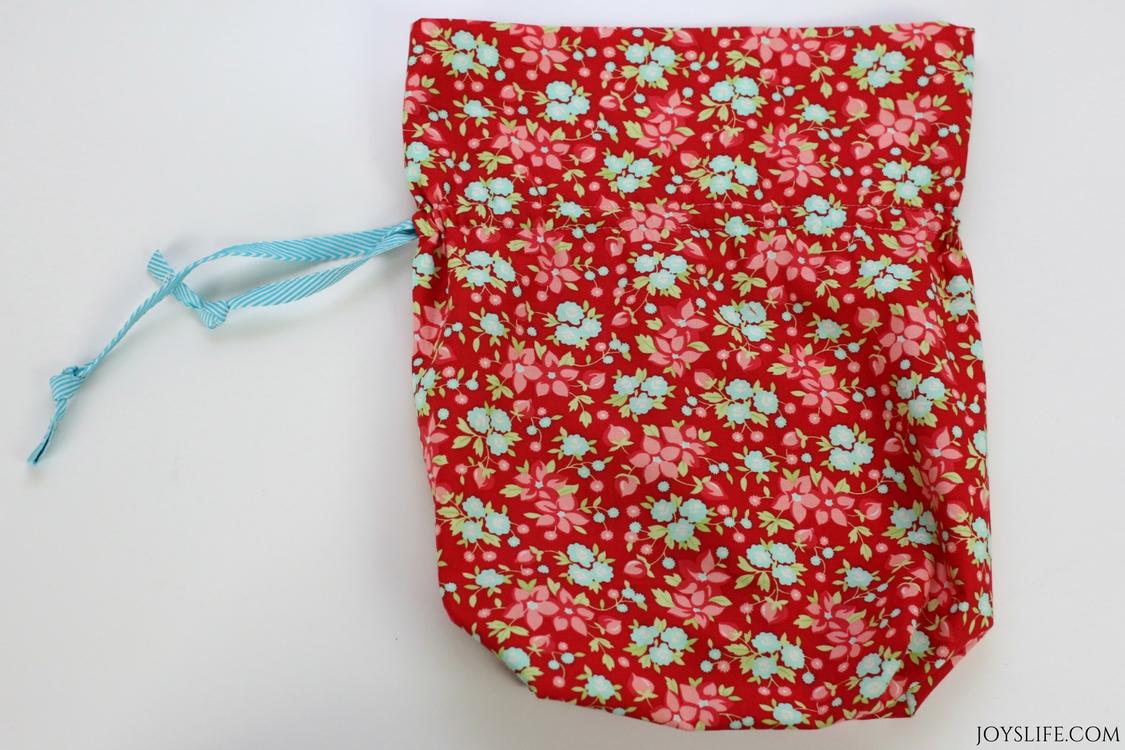 drawstring flat bag