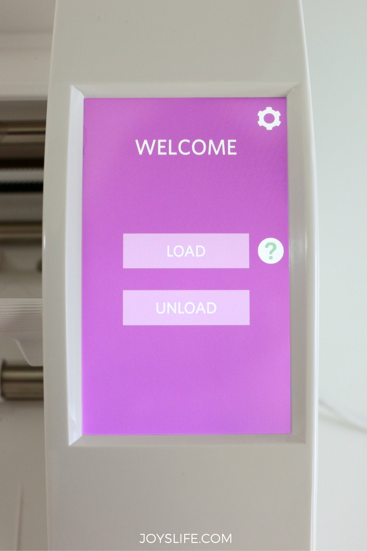 Silhouette Cameo 3 Welcome Screen
