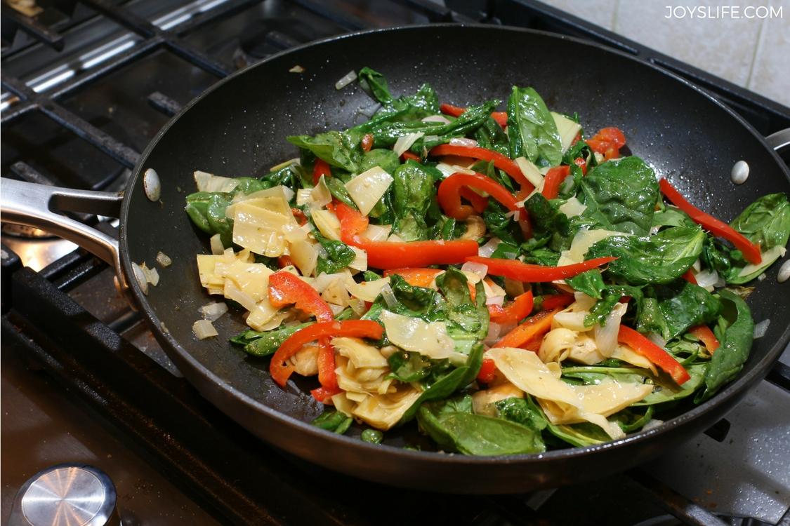 spinach artichoke pan
