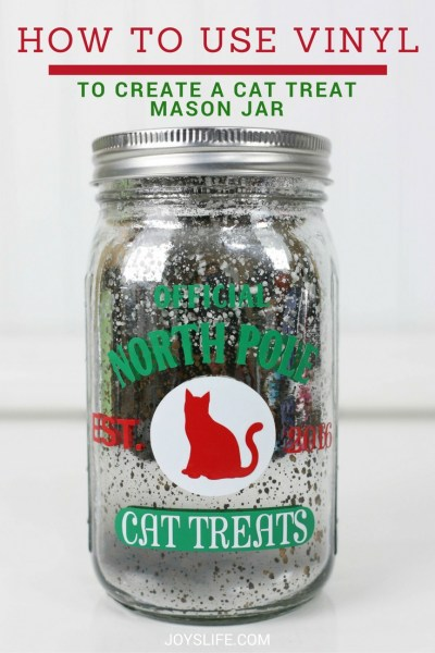 Create a Vinyl Decorated Cat Treat Mason Jar