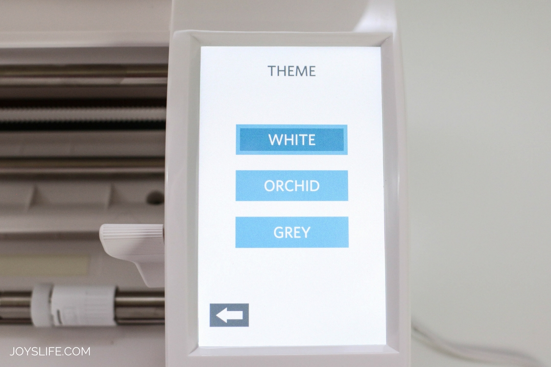 Silhouette Cameo 3 White menu screen