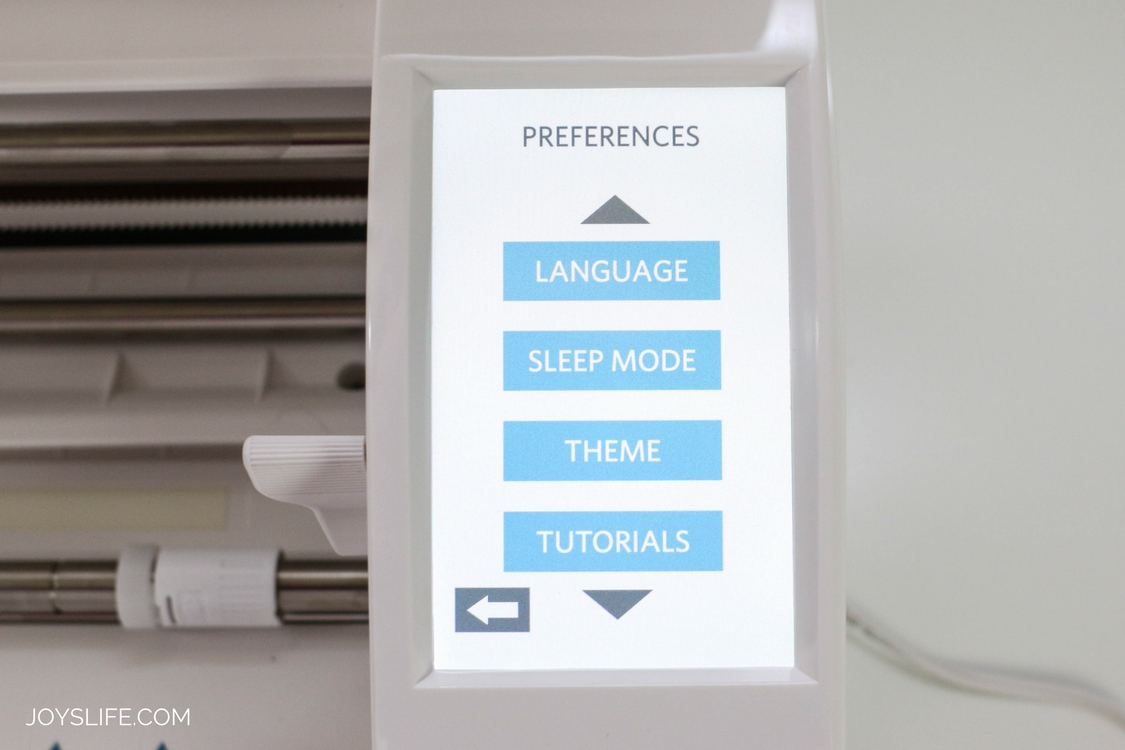 Silhouette Cameo 3 Preferences Menu