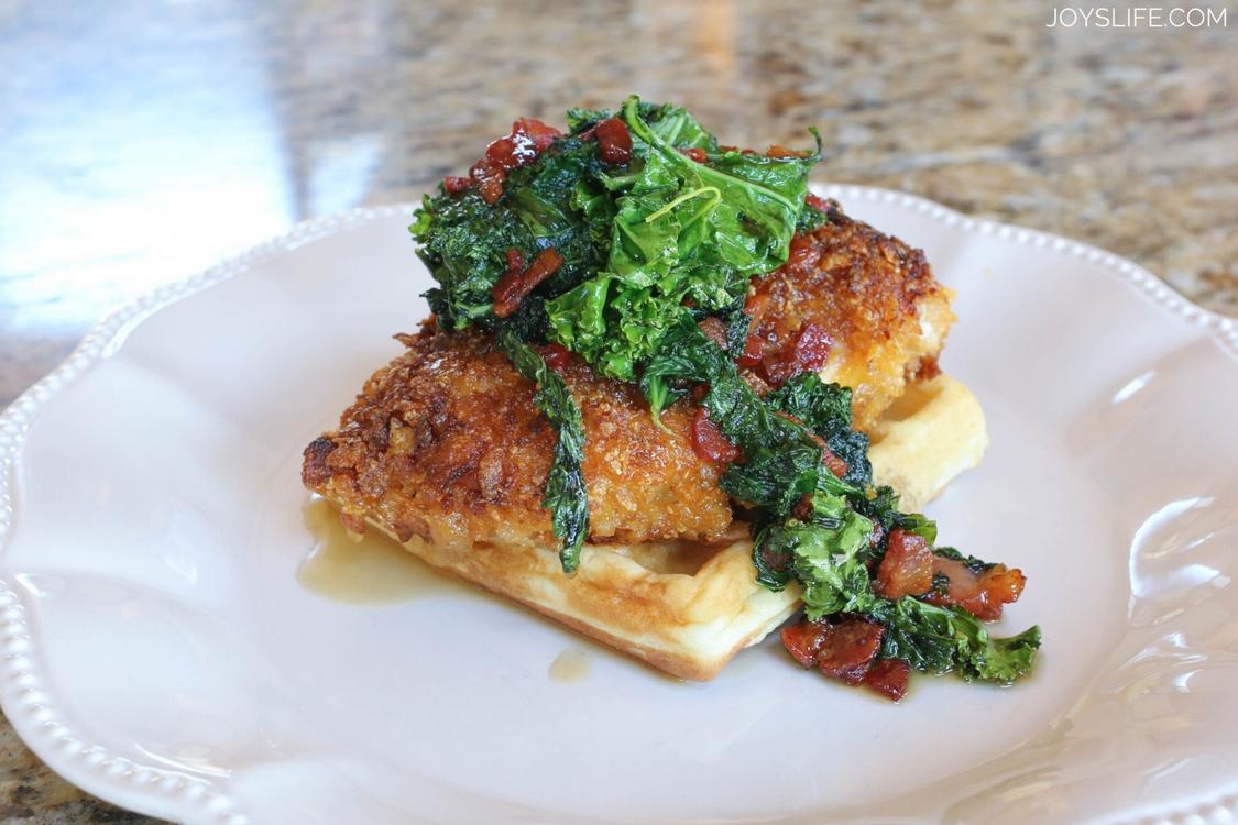 Chicken Waffles Kale