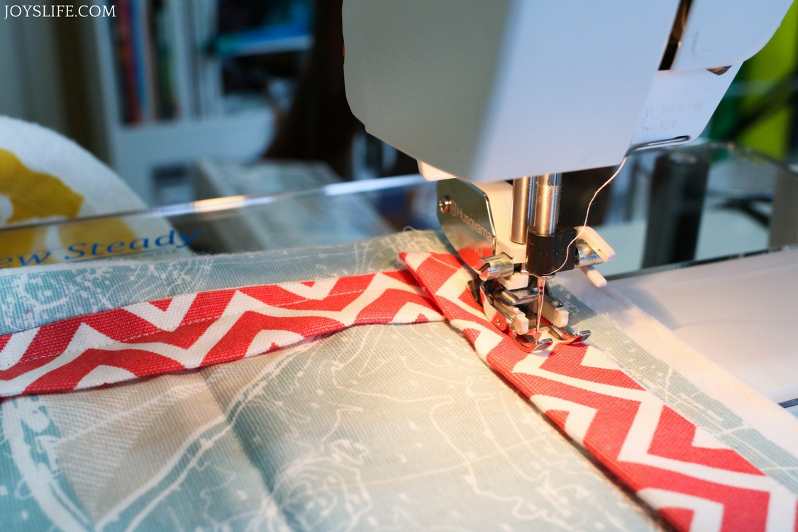 sew on picnic blanket binding