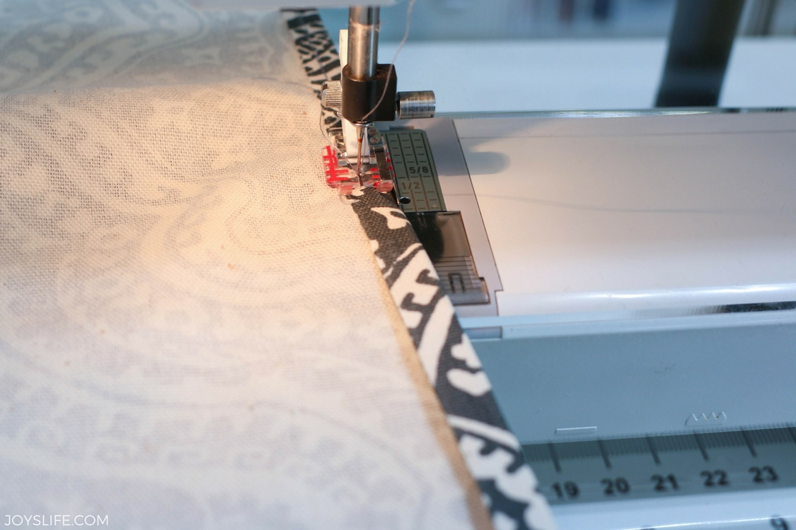 sewing pillowcase seam