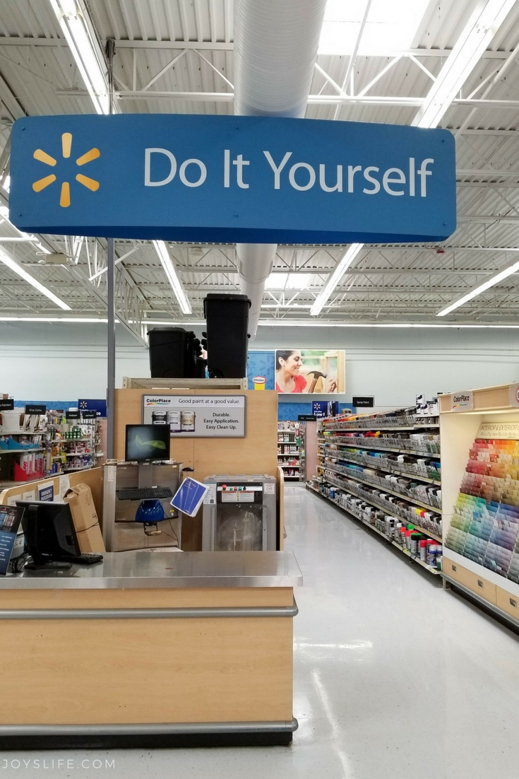 Do It Yourself Walmart paint aisle