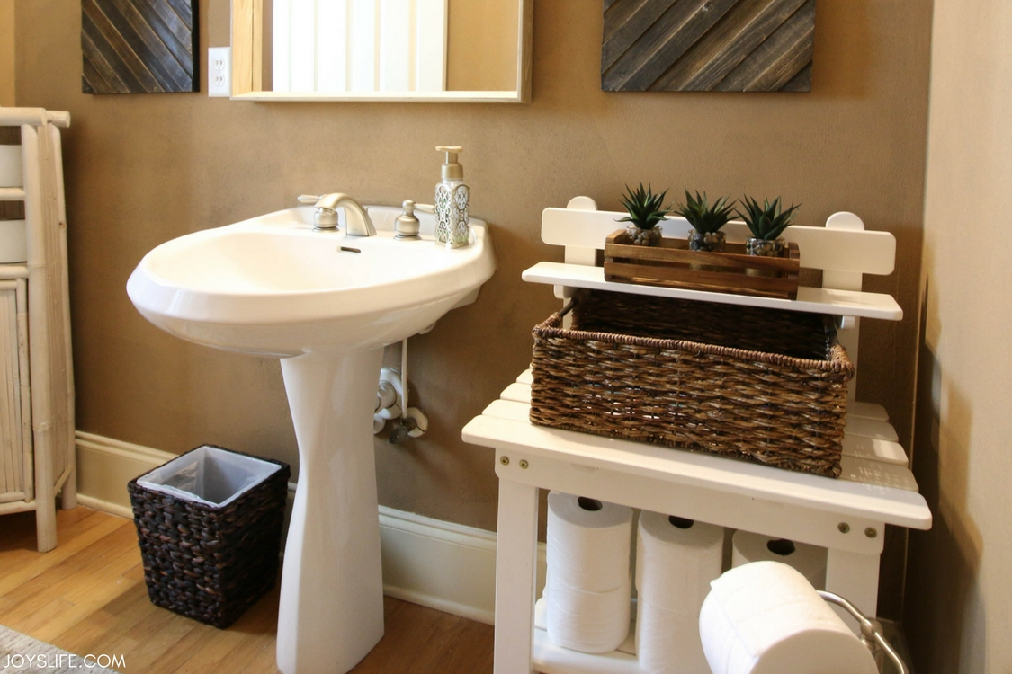 farmhouse style bathroom before and after