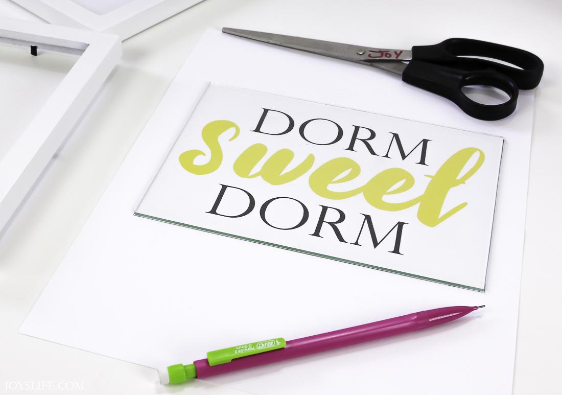 dorm sweet dorm frame apart