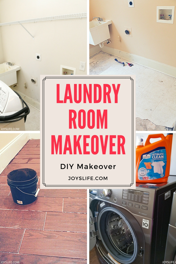Laundry Room Makeover paint flooring appliances cabinetry