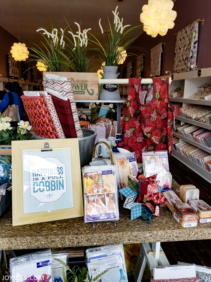 Floral Fabric Shop Display Hamilton Missouri