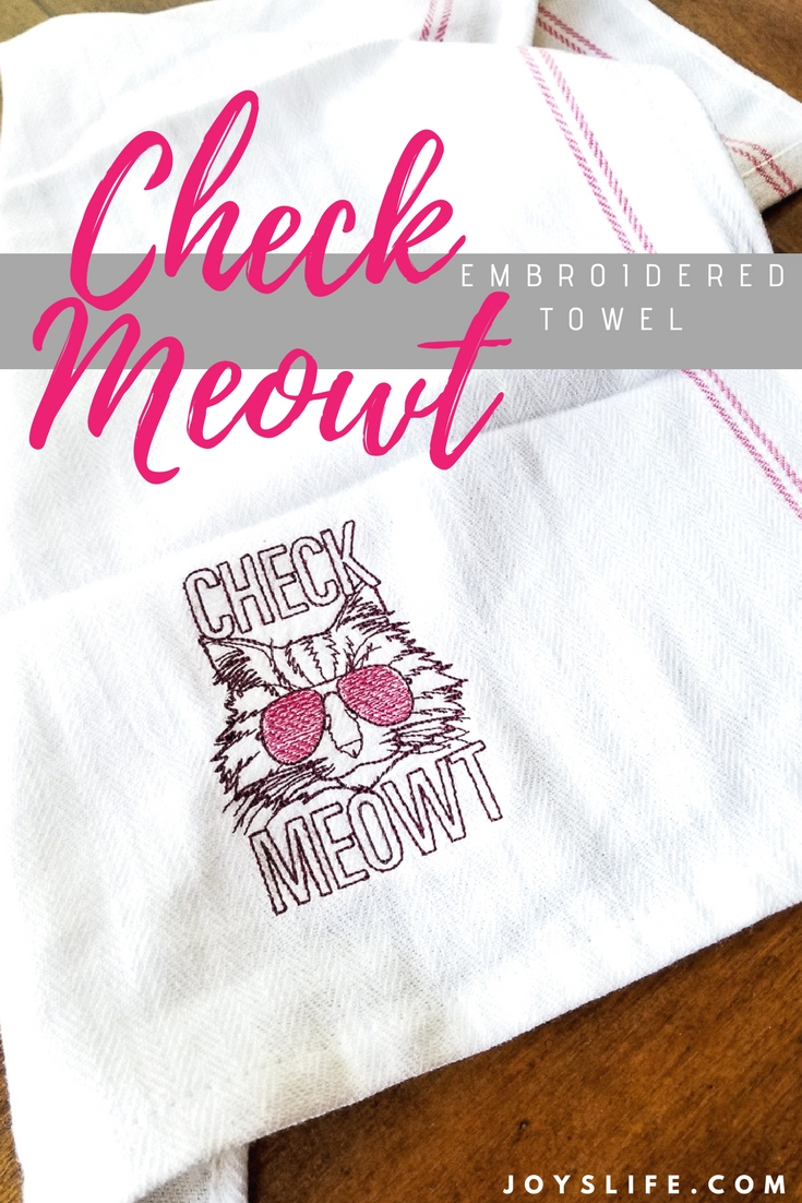Check Meowt embroidered Towel