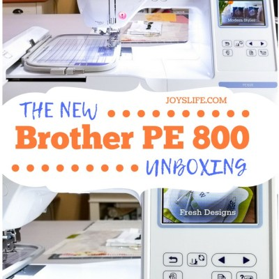 Brother PE800 Embroidery Machine Unboxing