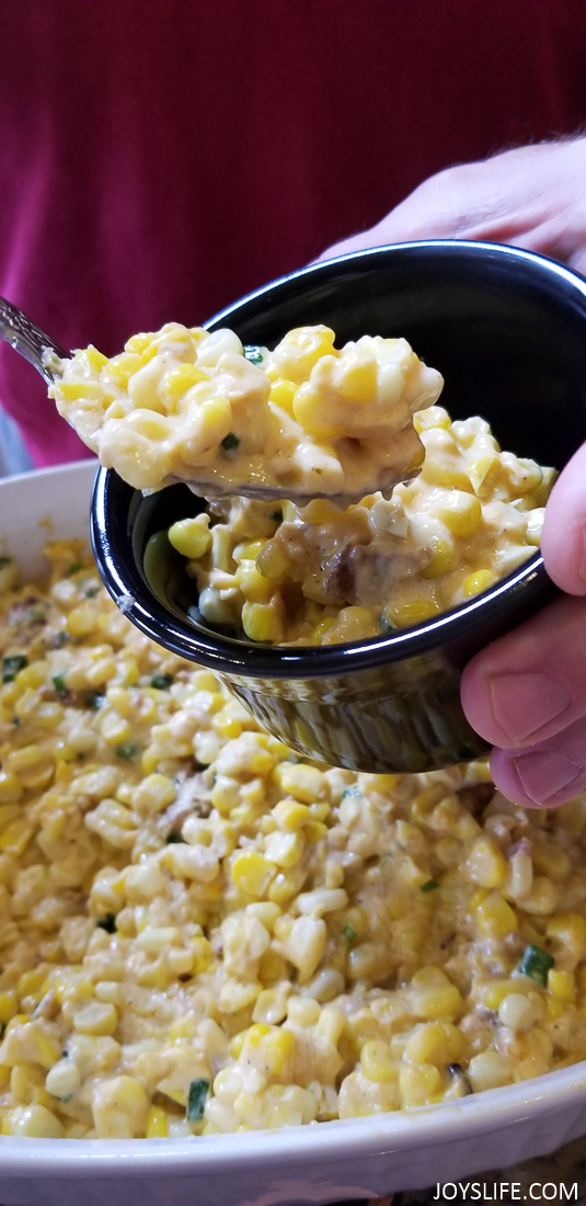 Plating Tabasco cheesy hot corn dip
