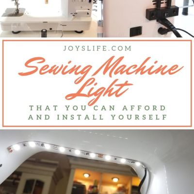 Sewing Machine Light that You Can Afford and Install Yourself